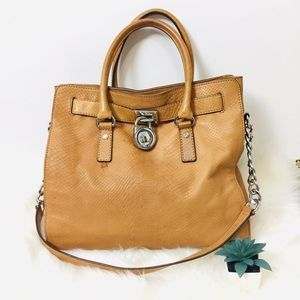 MK Large Leather Hamilton 2-way Bag
